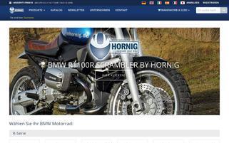Motorradzubehör Hornig Webseiten Screenshot