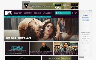 MTV Mobile Webseiten Screenshot