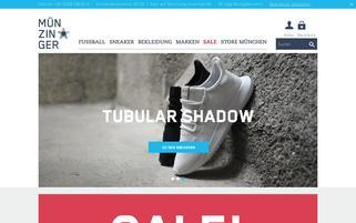 Münzinger Webseiten Screenshot