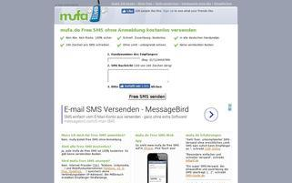 mufa Webseiten Screenshot