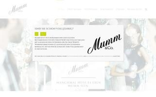 Mumm Webseiten Screenshot