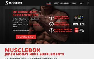 MUSCLEBOX Webseiten Screenshot