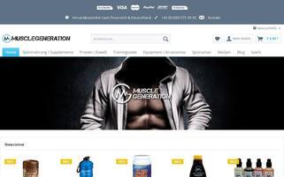 Musclegeneration Webseiten Screenshot