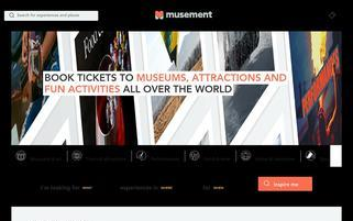 musement.com Webseiten Screenshot
