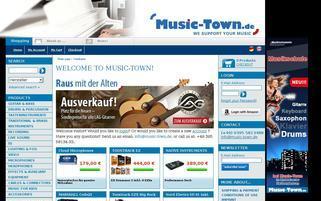 Music Town Webseiten Screenshot