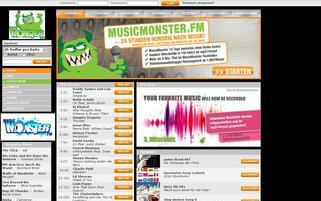 musicmonster Webseiten Screenshot