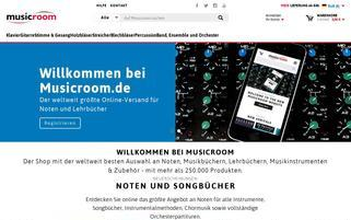 musicroom Webseiten Screenshot