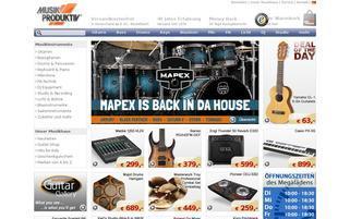 Musik Produktiv Webseiten Screenshot