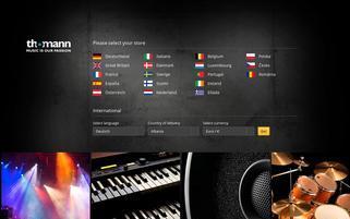 Musik-Service Webseiten Screenshot