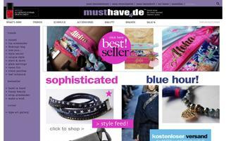 musthave.de Webseiten Screenshot