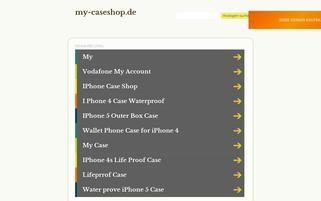 my-caseshop Webseiten Screenshot