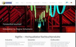 my-NighTec Webseiten Screenshot