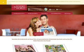 my SCHOKO WORLD Webseiten Screenshot