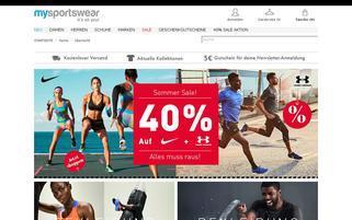 My Sportswear Webseiten Screenshot