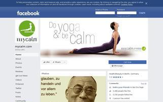 mycalm.com Webseiten Screenshot