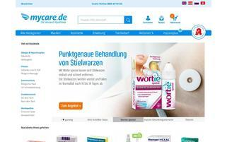 mycare Webseiten Screenshot