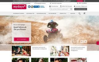 mydays Österreich Webseiten Screenshot
