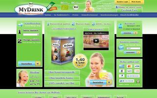 MyDrink Webseiten Screenshot