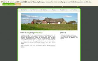myEasyBooking Webseiten Screenshot