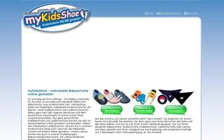 myKidsShoe Webseiten Screenshot
