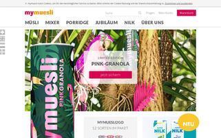 mymuesli Webseiten Screenshot