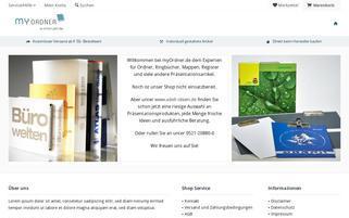 MyOrdner Webseiten Screenshot