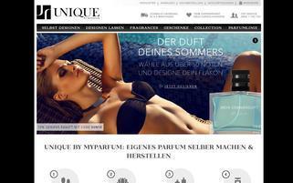 MyParfum Webseiten Screenshot
