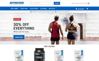 myprotein Webseiten Screenshot
