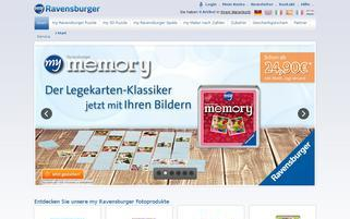 myRavensburger Webseiten Screenshot
