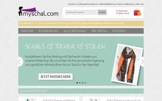 mySchal Webseiten Screenshot