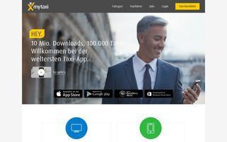 myTaxi Webseiten Screenshot