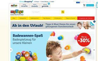 myToys Webseiten Screenshot
