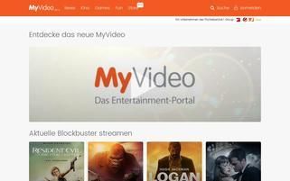 MyVideo Webseiten Screenshot