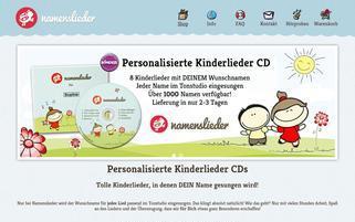Namenslieder.de Webseiten Screenshot