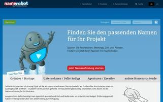 namerobot.de Webseiten Screenshot