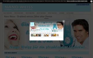 nanoweiss.com Webseiten Screenshot