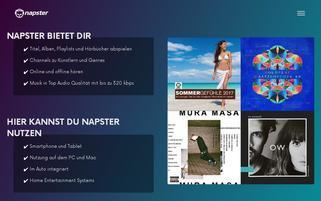Napster Webseiten Screenshot