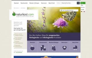 Naturkost Webseiten Screenshot