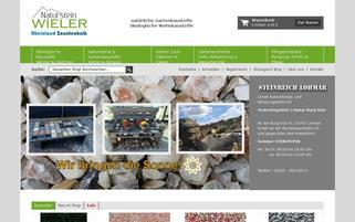 Naturstein Wieler Webseiten Screenshot