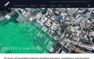 Navteq Webseiten Screenshot