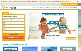 Neckermann Reisen Schweiz Webseiten Screenshot