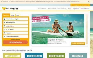 Neckermann Reisen Österreich Webseiten Screenshot