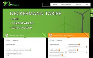 Neckermann Strom Webseiten Screenshot