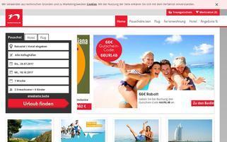 Neckermann Urlaubswelt Webseiten Screenshot