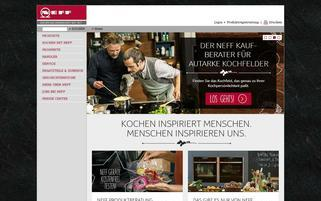 Neff Webseiten Screenshot