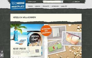 Nestle Marktplatz Webseiten Screenshot