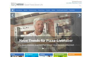 Nestle Webseiten Screenshot