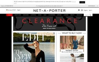 Net-A-Porter Webseiten Screenshot
