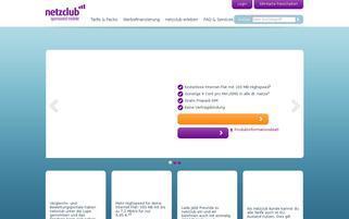 netzclub Webseiten Screenshot