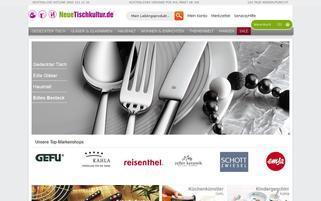 Neue Tischkultur Webseiten Screenshot